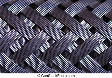 Wire Braided Hose Macro - macro image of a metal wire...