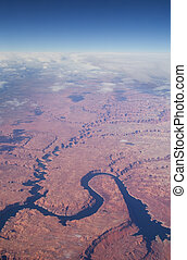 Aerial Lake Powell Image - aerial image of Lake Powell and...