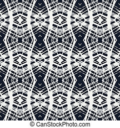white lace on navy blue vector geometrical pattern - white...