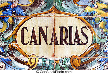 Canarias - Laying ceramic letters the name from the Spanish...