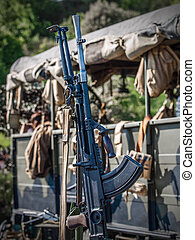 Machine gun - British army, world war two