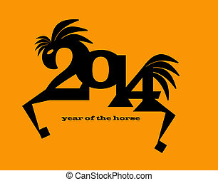 2014 new year of the horse - illustration of chinese new...