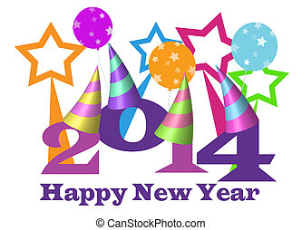 Happy new year 2014 - happy new year 2014 illustration with...