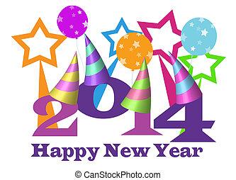 szczęśliwy, nowy, rok, 2014