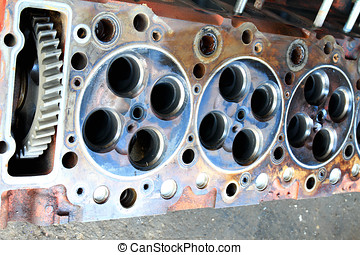 Cylinder head. parts in engine .