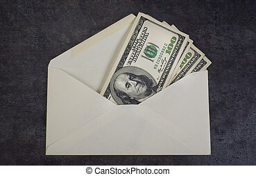 Money Envelope - Envelope full of money with room for your...