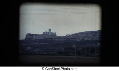 Vintage 8mm. View of Assisi - Vintage 8mm. Original footage...