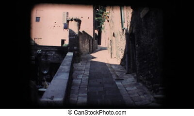 Vintage 8mm.Little street in Assisi - Vintage 8mm. Original...
