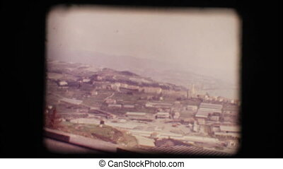 Vintage 8mm. View of San Remo