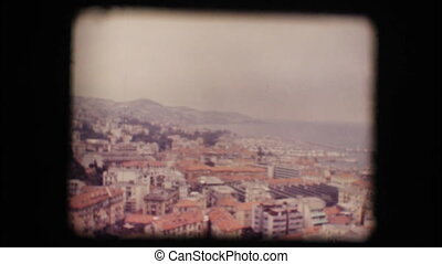 Vintage 8mm. View of small town