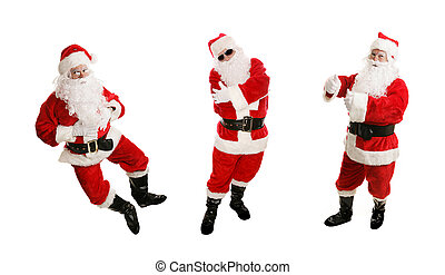 Three Dancing Santas