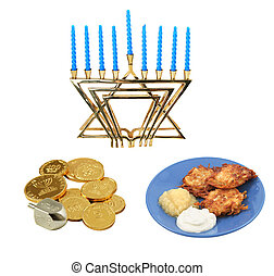 Chanukah Design Elements - Design elements for Chanunkah -...