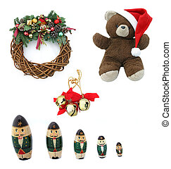 Christmas Design Elements - Collection of traditional...