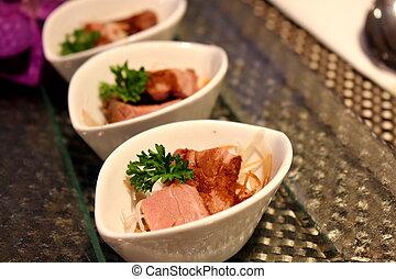 Roast pork with Honey sauce
