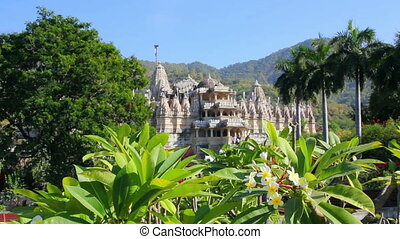 hindu temple ranakpur in rajasthan india