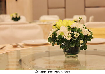 vase of flowers on the table - A vase of flowers on the...
