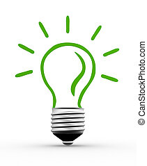Lightbulb - 3d Light bulb. Concept of energy efficiency. 3d...