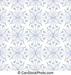 Elegant floral background, seamless vector pattern - Elegant...