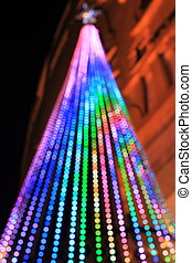 brightly lit christmas tree - A brightly lit christmas tree...