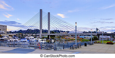 Tacoma downtown near port and Glass Museum. - Tacoma...