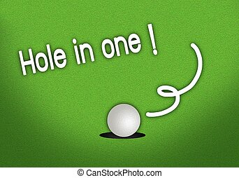 Putted Golfball Dropping Hole in One Shot - Beautiful Golf...