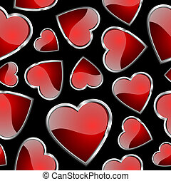 Seamlessly hearts pattern - background for continuous...