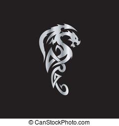 Tribal Dragon Tattoo Art