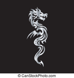 Tribal Dragon Tattoo Art