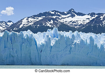 amazing glacier Perito Moreno - water, ice and snow of...