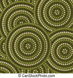 Aboriginal Art - Abstract Aboriginal dot painting in vector...