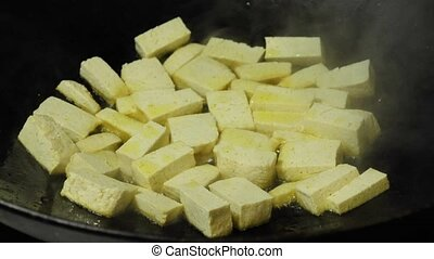 tofu in a chinese wok