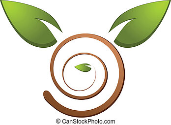 Tree green nature logo vector illustration