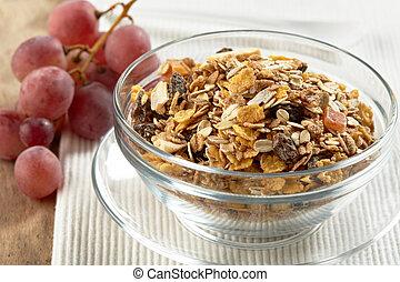 granola and grape