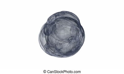 Grey Abstract Ball of Wool on White, Seamless Loop Animated...