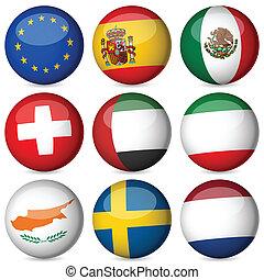 nacional, bandeira, bola, jogo