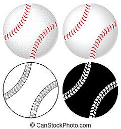 baseball ball set - Baseball ball set isolated on a white...