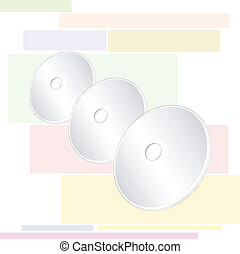 Three Compact Disc - Three Shiny Silver Blank CD or DVD...
