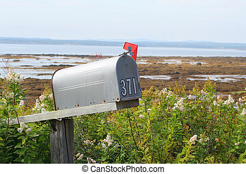 rustic mailbox - old fashioned mailbox on the side of the...
