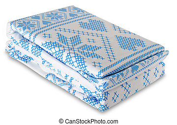 Bed linen isolated with clipping path on white background