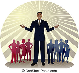 Political Colors - African-American politician standing out...