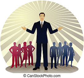 Political Colors - Politician standing out in front of...