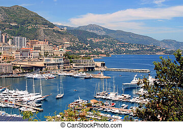 MOnaco Harbour scenic - Scenic view of Monaca harbor in the...