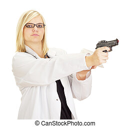 Medical doctor with a gun and drugs