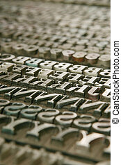 movable type - background - Typography workshop Old Metallic...