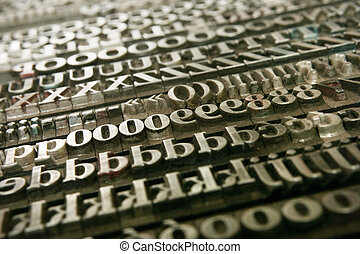 movable type - background - Typography workshop .Old...