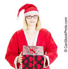 Dar, navidad, regalo, eva