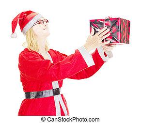 regalo, Dar, navidad, eva