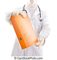 Medical doctor with some documents