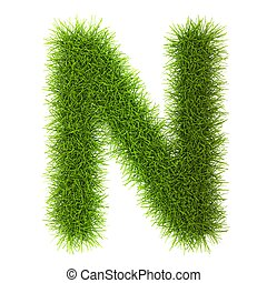 Grass style Cyrillic Alphabet Letters and Numbers Isolated...