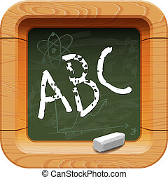 School blackboard icon, vector Eps10 image